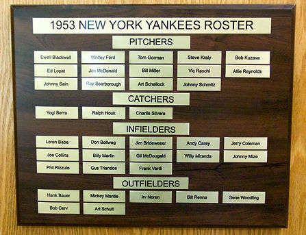 1953 NEW YORK YANKEES ROSTER | 1953 World Series Champions