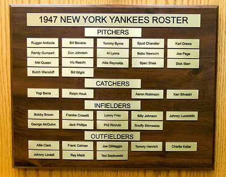 1947 NEW YORK YANKEES ROSTER | 1947 World Series Champions