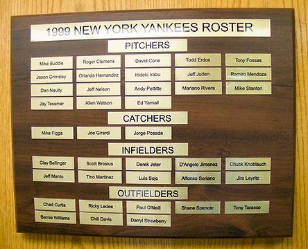 1999 NEW YORK YANKEES ROSTER | 1977 NEW YORK YANKEES WORLD SERIES | 1978 Autographed Yankee Baseball