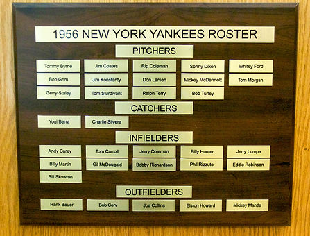 1956 NEW YORK YANKEES ROSTER | 1956 World Series Champions