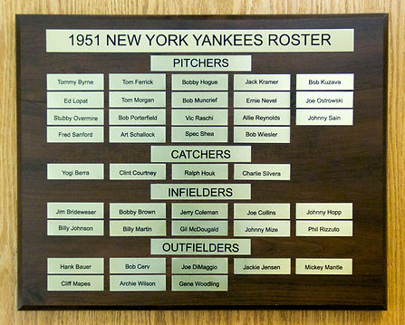 1950 NEW YORK YANKEES ROSTER | 1950 World Series Champions