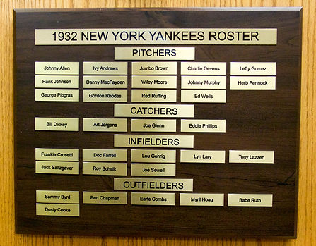 1932 World Series Champions | 1928 NEW YORK YANKEES ROSTER