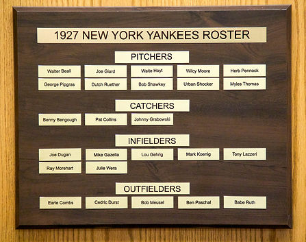 1927 World Series Champions | 1927 NEW YORK YANKEES ROSTER