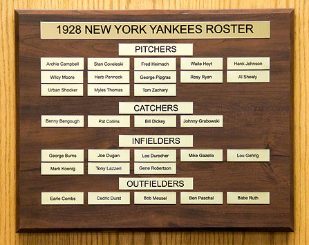 1928 World Series Champions | 1928 NEW YORK YANKEES ROSTER