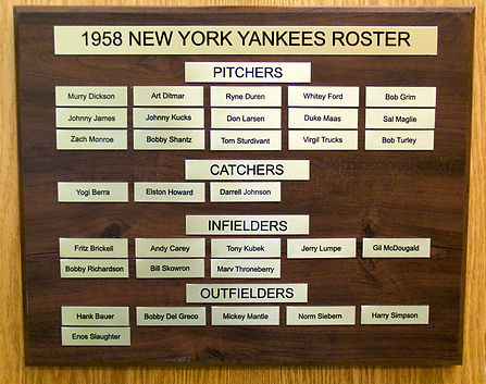1958 NEW YORK YANKEES ROSTER | 1958 NEW YORK YANKEES WORLD SERIES | 1958 Autographed Yankee Baseball