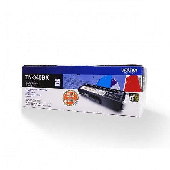 Brother TN-340BK Standard Black Toner Cartridge (2500 pages)