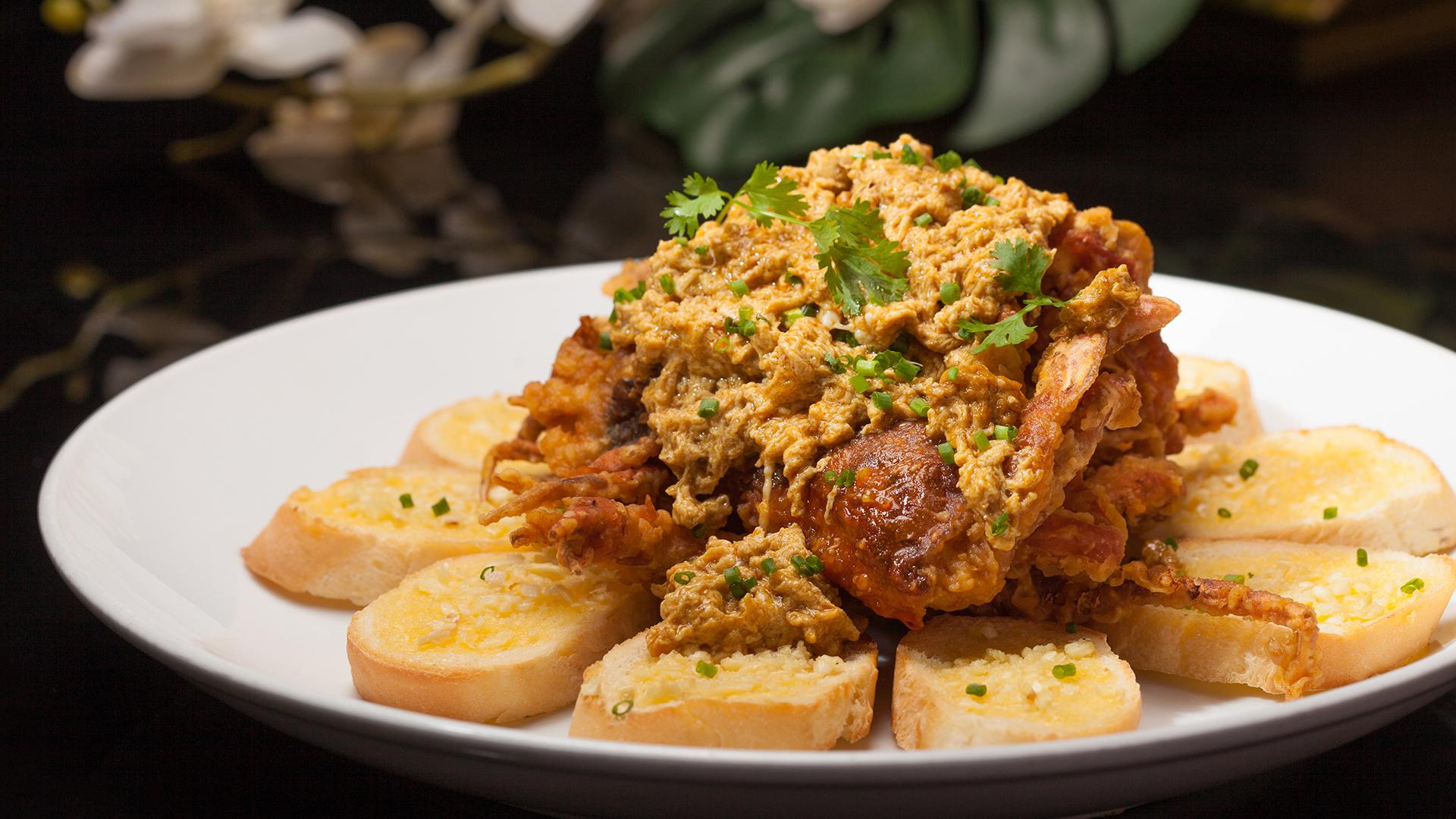 Taiming Lanpin 咖哩軟殼蟹佐法國麵包