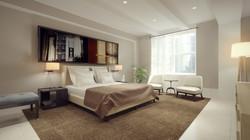 דירת יוקרה חדר שינה מיטה