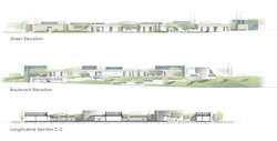 15 Elevations & long section