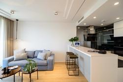 living area חדר מגורים מטבח