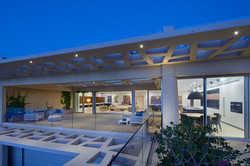 Luxury apartment twilight
