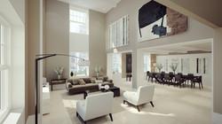 דירת יוקרה חדר מגורים