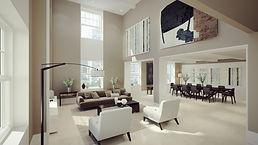 דירת יוקרה סלון חדר מגורים עיצוב פנים