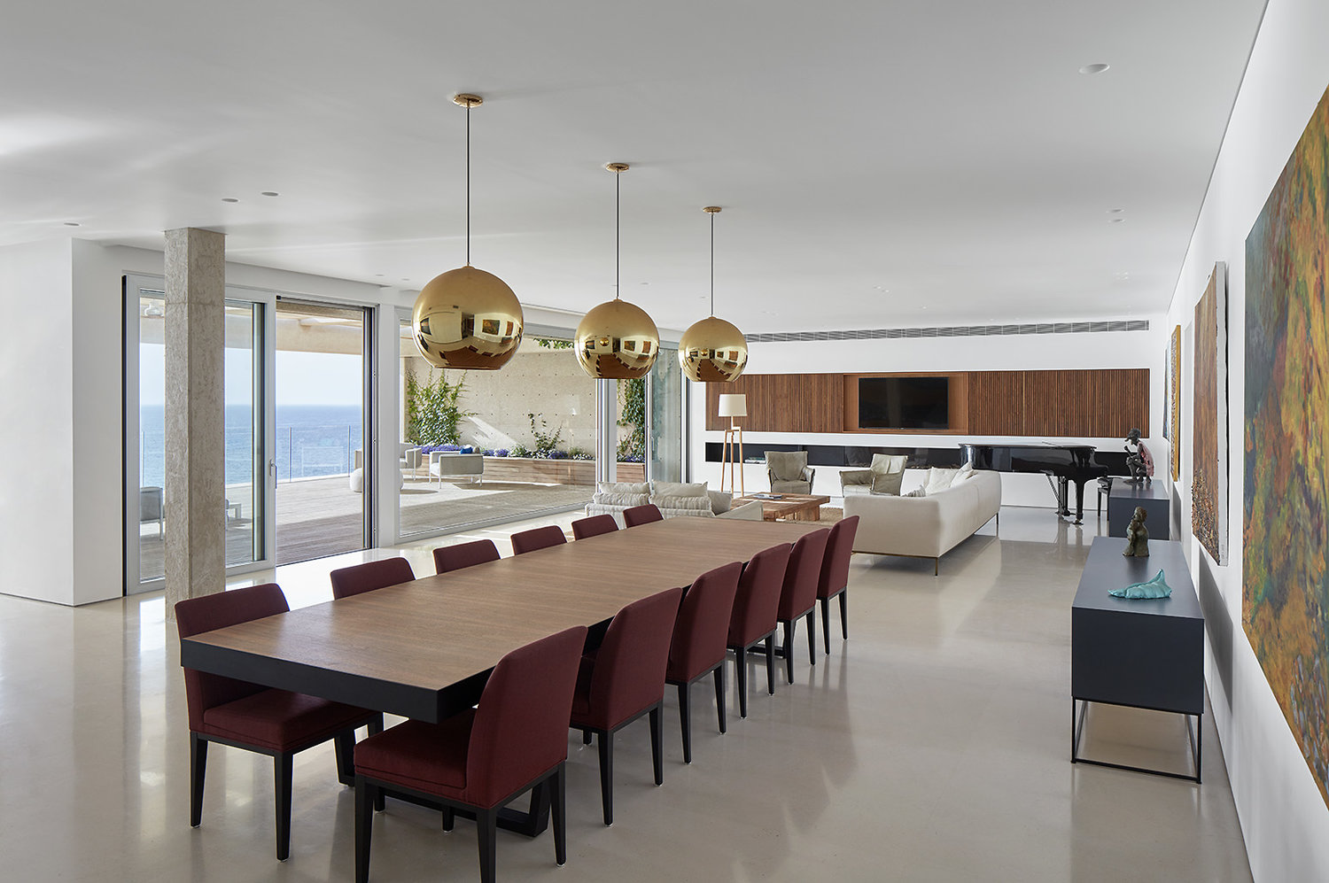 Luxury apartment dining table