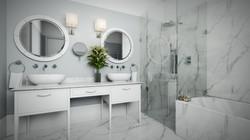 luxury bathroom shower vanity