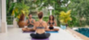 Yoga and meditation class