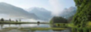 Mountain lake in Lenk Swiss Alps