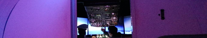A peak inside the cockpit