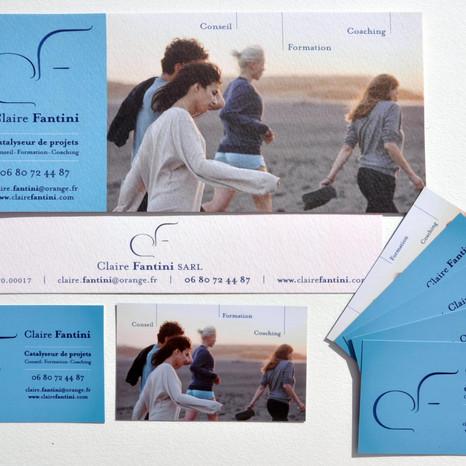 Cartes de visite Claire Fantini