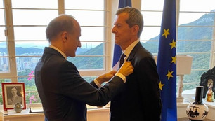 Professor Roberto Bruzzone awarded the insignia of Officer in the French National Order of Merit