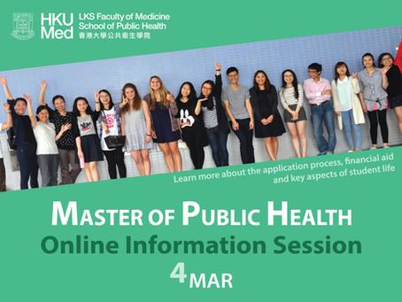 MPH Online Information Session (4 Mar)