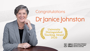 Dr Janice Johnston received the University Distinguished Teaching Award 2020