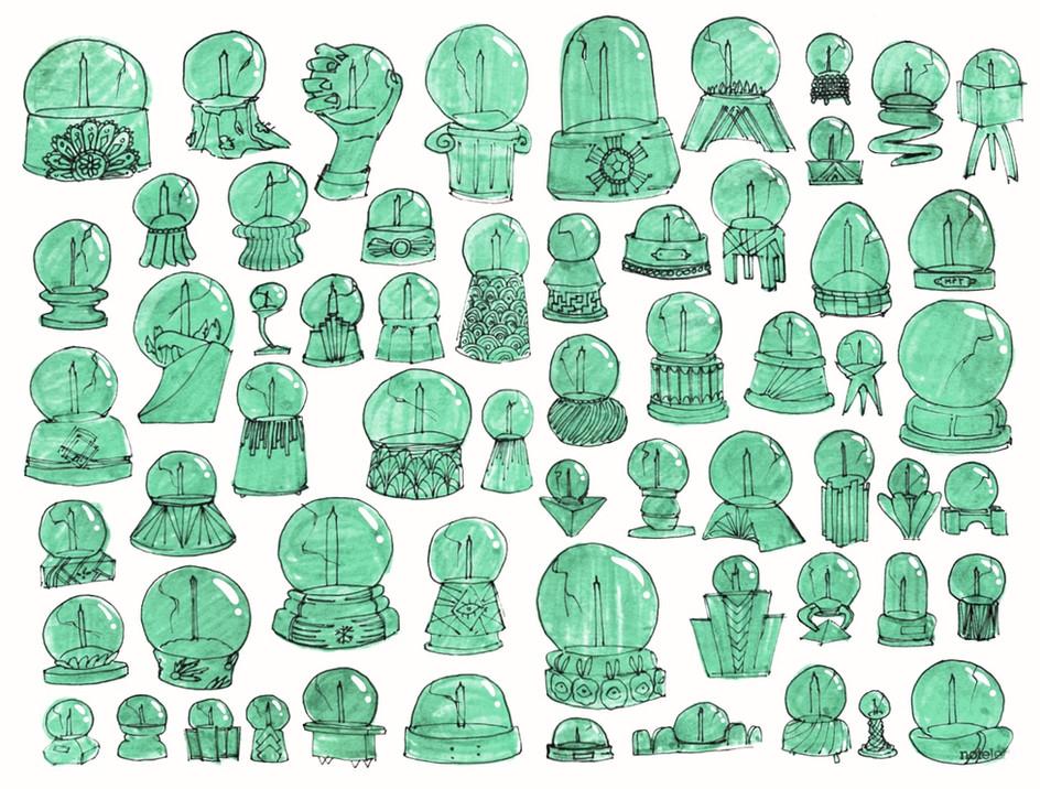 Globe Doodles