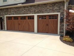Residential garage door installation