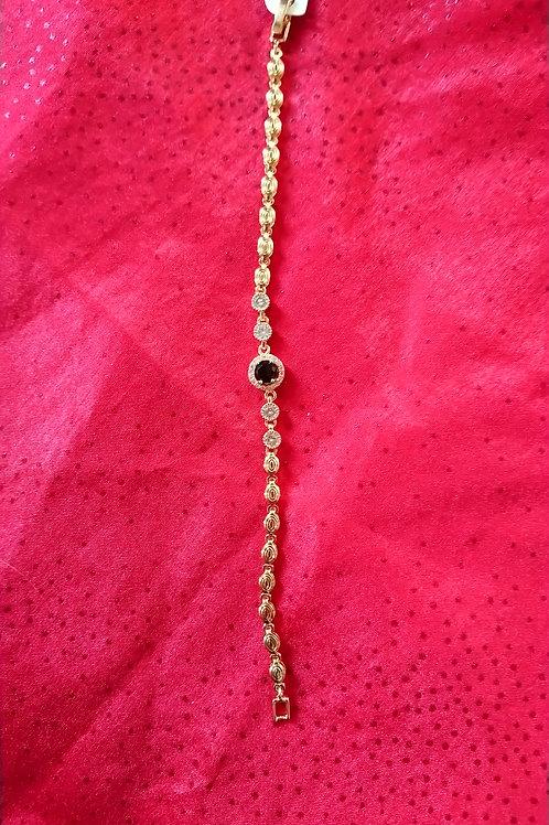 Perle noire et strass