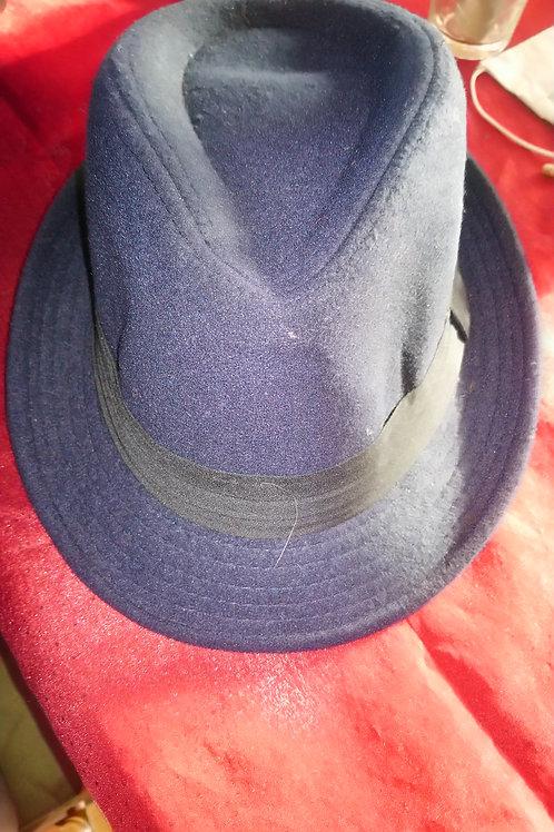 Borsalino bleu marine bandeau noir