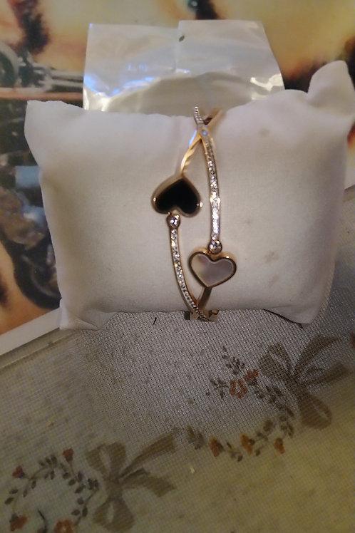 Bracelet cœur double