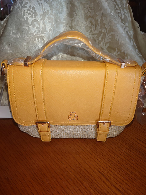 Petit sac Lulu moutarde/paille