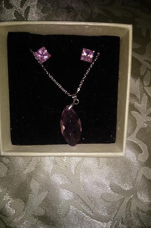 Coffret pendentif violet