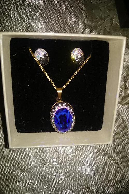 Coffret pendentif bleu