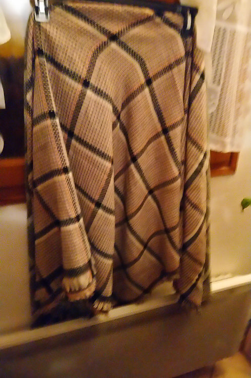 Écharpe carrée quadrillée, 10 %de laine