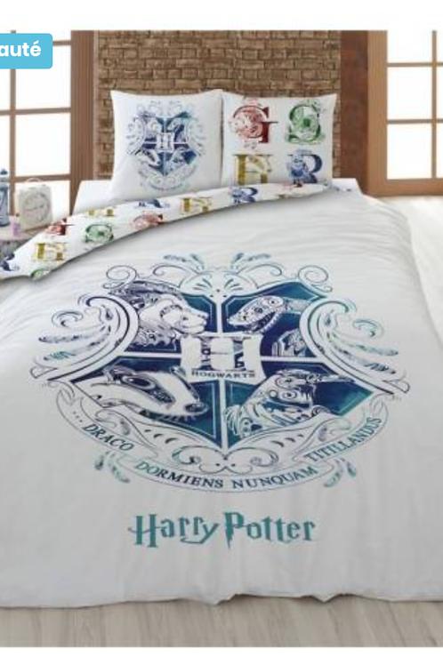 Housse de couette Harry Potter blanche