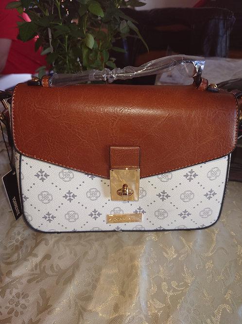 Petit sac Torrente blanc/marron