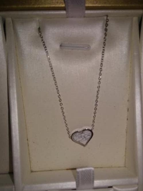 Chaînette coeur blanc