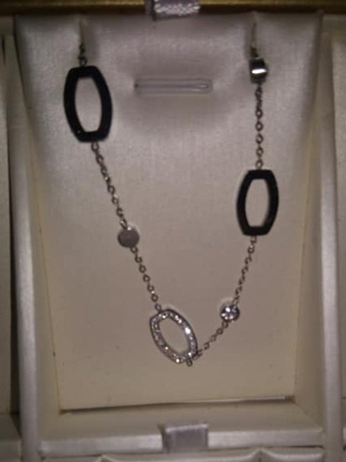 Chaînette strass  et perle