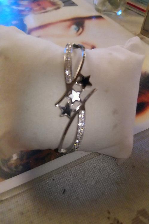 Bracelet étoiles strass