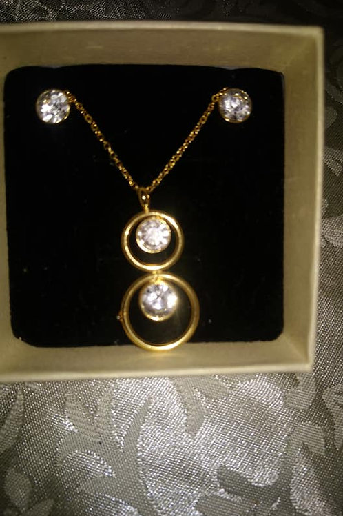 Coffret rond or