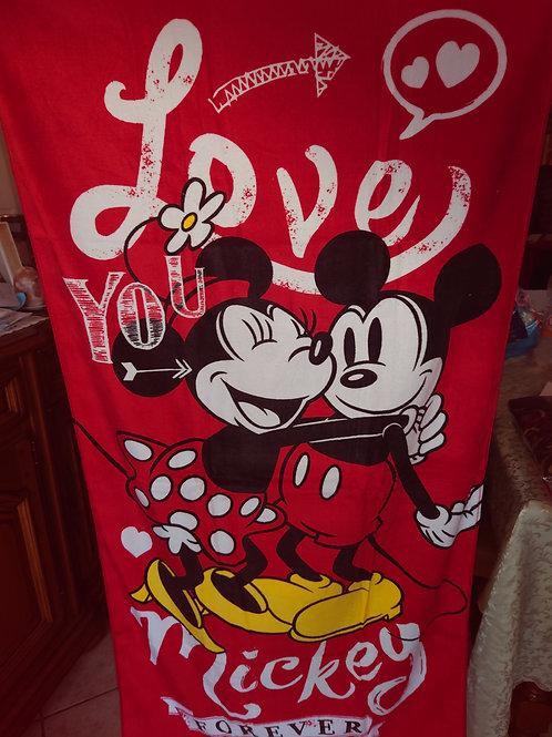 Draps de plage Mickey et Minnie