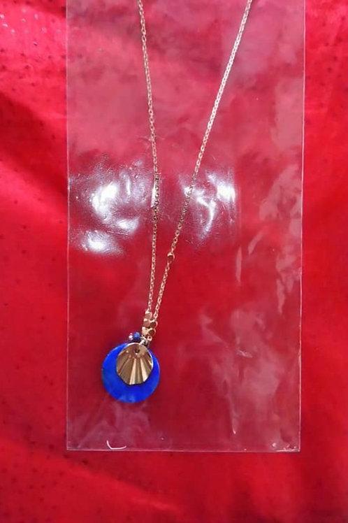 Chaînette pendentif bleu