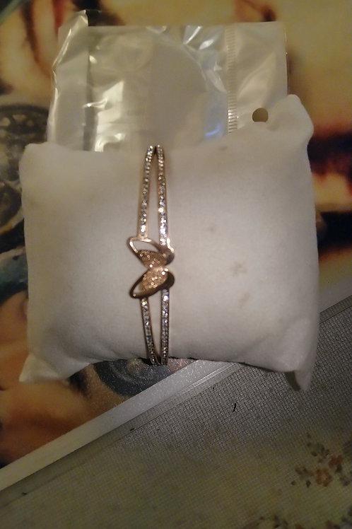Bracelet papillon strass