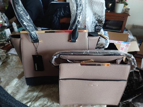 Double sac Torrente rose/beige