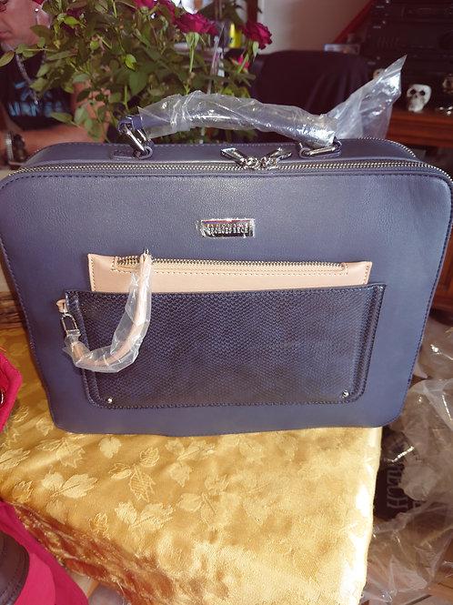 Sac valise bleu marine