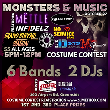 Monsters and Music FACEBOOK Event Flier.