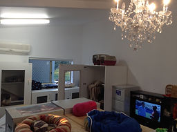 Air con, TV and a chandelier at Miss U Motel for Moggies Cattery Canberra