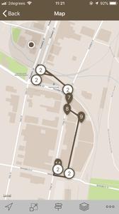 Maps of walking tour through Oamaru