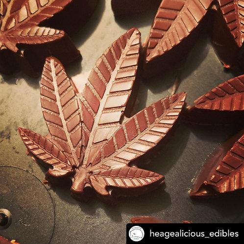 Dark Belgian Chocolate Leaves